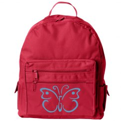 Backpack with butterfly (1)