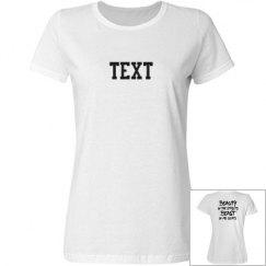 Customizable Beauty & Beast in Cleats Soccer Shirt
