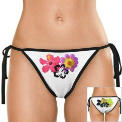 Flowering bikini bottoms