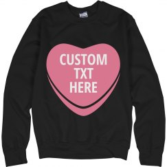 Custom Text Candy Heart