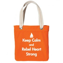 Keep Calm, Tote, Orange