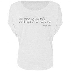 my mind on my tofu...circle top