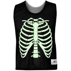 Glow Run Skeleton Pinnie