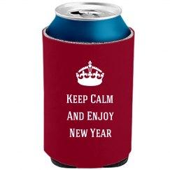 Keep Calm New Year Koozie