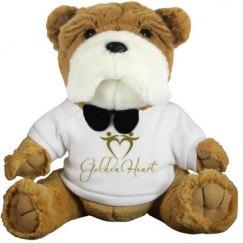 Golden Heart Custom Plush Dog
