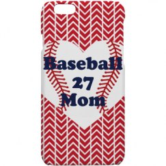 Baseball mom phone case