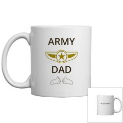 Personalize army dad coffee mug