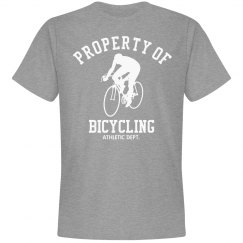 Property of bicycling athletic dept.