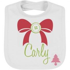 Personalize Christmas Bib