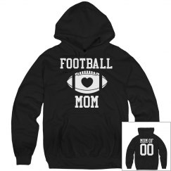 Football Mom Fleece Rhinestones