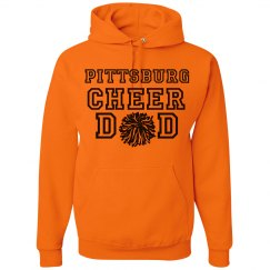 cheer dad hoodie orange