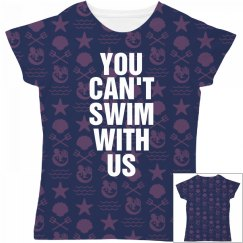 Can't Swim With Us Mermaid Pattern