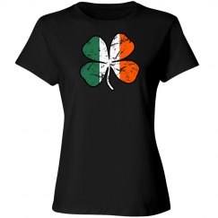 Distressed Irish Flag Shirt