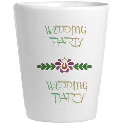 Wedding Party Shot Glass