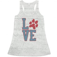 Love Pawprint Flowy Tank