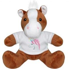 Unicorn Face Small Plush Pony