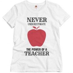Power of a teacher
