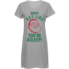 Santa's Coming Nightshirt