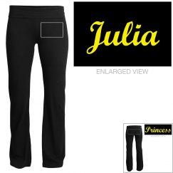 Julia, yoga pants