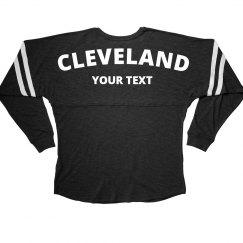 Cleveland Custom Text Tailgate Shirt