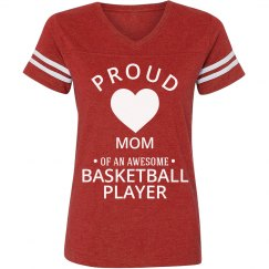 Proud mom of a basketball player