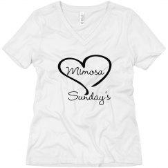 Mimosa Sunday's-wmn wht V
