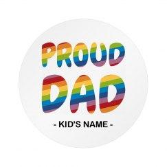 Proud Dad Gay Pride Button