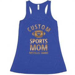 Custom Metallic Foil Sports Mom
