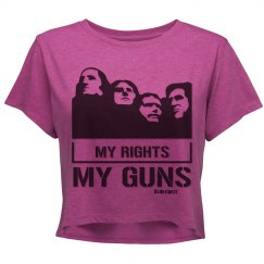 My Rights My Guns Crop Shirt
