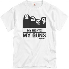 My Rights My Guns Men's Tshirt