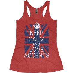 Keep Calm Love Accents