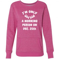 Morning Person Christmas Sweater