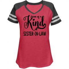 Misses Relaxed Fit District Made Game V-Neck T-Shirt