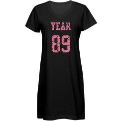 Year 89 T-shirt Dress