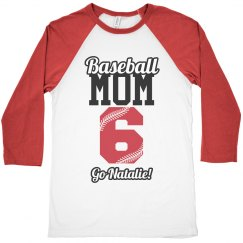 Baseball Mom Pride Shirt With Custom Name Number