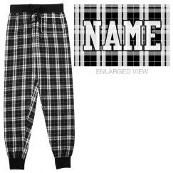 Custom Name Flannel Pajamas