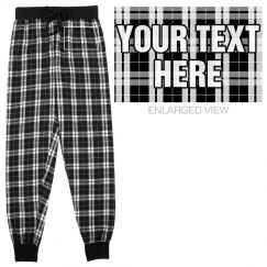 Custom Flannel Pajama Bottoms