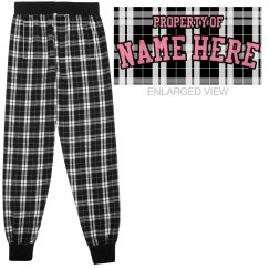 Property Of Custom Name Flannel PJs