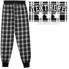 Custom Text Flannel Pajama Bottoms