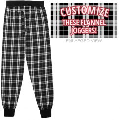 Custom Flannel Jogger Lounge Pants