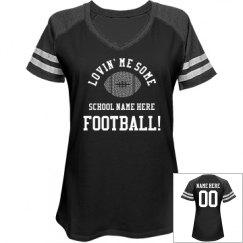 Lovin' Custom Rhinestone Football