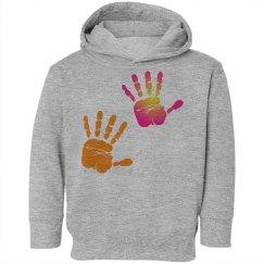 Twin Handprints Hooded