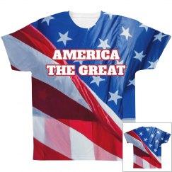 America The Great USA Flag Print