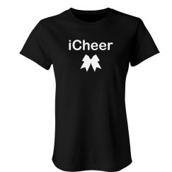 iCheer Cute Cheerleader Tee