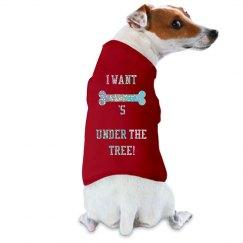 Sparkly Christmas Dog Shirt