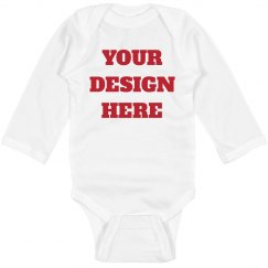 Custom Long Sleeve Baby Onesie