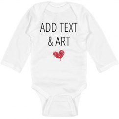 Personalized Long Sleeve Onesie