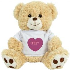 cute teddy bear named teddy