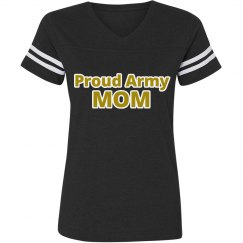 Proud Army Mom Vintage Tee Black