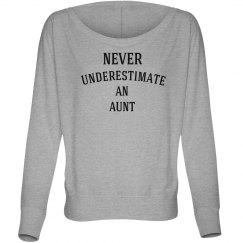 Never underestimate aunt